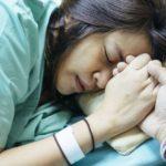 A woman having labor pains