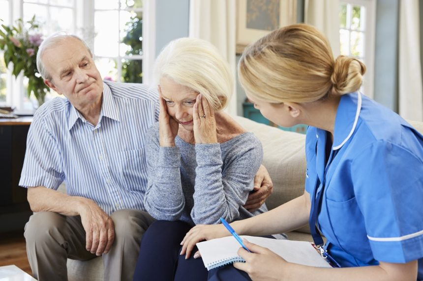 older couple with therapist