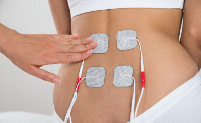 Electrical stimulation of lower back