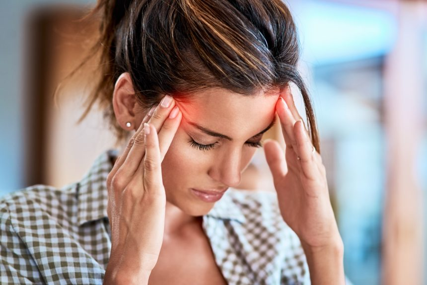 woman with headache, migraine