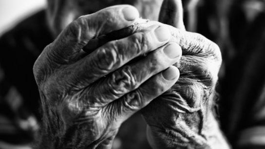 Elderly man's hands