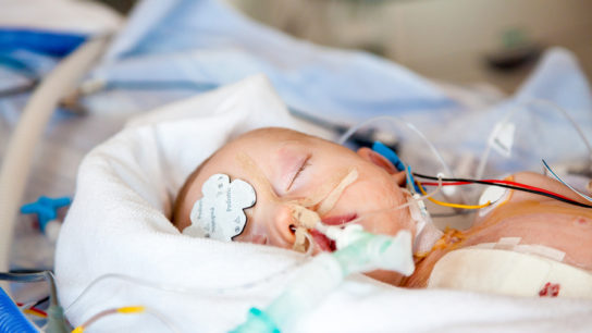 infant in intensive care unit