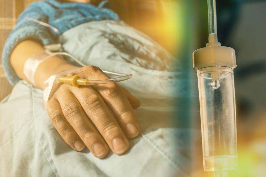 hospital patient, IV drip, treatment